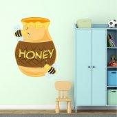 Naklejka ścienna Dla Dzieci - Pszczoły i Miód