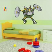 Naklejka ścienna Dla Dzieci - Robot Piła