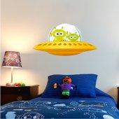 Naklejka ścienna Dla Dzieci - Statek kosmiczny