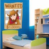 Naklejka ścienna Dla Dzieci - Wanted