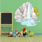 Naklejka ścienna Dla Dzieci - Wysepka wodospadem