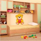 Naklejka ścienna Dla Dzieci - Zakochany Niedźwiadek