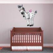 Naklejka ścienna Dla Dzieci - Zebra z motylami