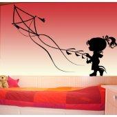 Naklejka ścienna - Dziewczynka z latawcem