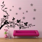 Naklejka ścienna - Gałąź  i Kwiaty Wiśni