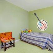 Naklejka ścienna - Gitara USA