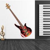 Naklejka ścienna - Gitara w płomieniach