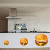 Naklejka ścienna - Hamburger