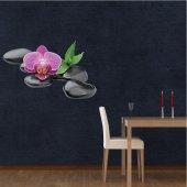 Naklejka ścienna - Kamyki i Orchidee
