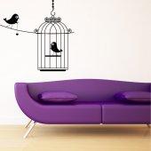 Naklejka ścienna - Klatka na Ptaki