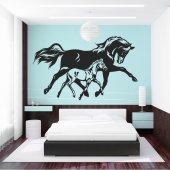 Naklejka ścienna - Konie