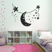 Naklejka ścienna - Księżyc i Gwiazdy