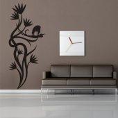 Naklejka ścienna - Kwiat i Ptaki