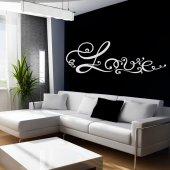 Naklejka ścienna - Love