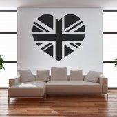Naklejka ścienna - Serce Anglia