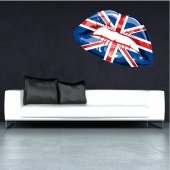 Naklejka ścienna - Usta UK
