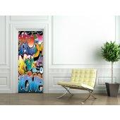 Naklejka na Drzwi - Graffiti