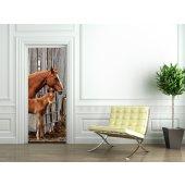 Naklejka na Drzwi - Konie