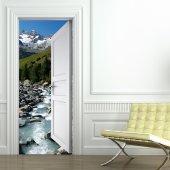 Naklejka na Drzwi - Rzeka