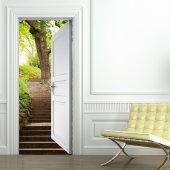 Naklejka na Drzwi - Schody