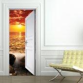 Naklejka na Drzwi - Zachód Słońca