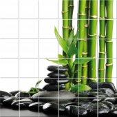 Naklejka na Płytki Ceramiczne - Bambus i Kamień