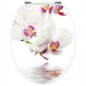 Naklejka na WC - Biała Orchidea