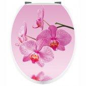 Naklejka na WC - Różowa Orchidea