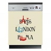 Naklejka na Zmywarkę - Paris London Roma