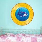 Naklejka Okrągłe Okienko dla Dzieci