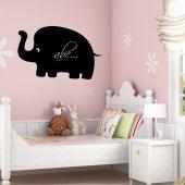 Naklejka tablica - Słoń