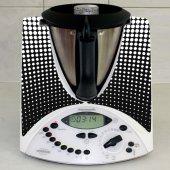 Naklejka Thermomix TM 31 - Kropki Black&White