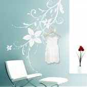 Naklejka wieszak - Kwiaty
