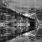 New York Bridge - Tiles Wall Stickers