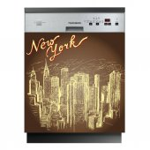 New York - Dishwasher Cover Panels