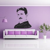 Nikola Tesla Wall Stickers