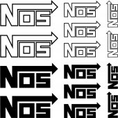 nos Decal Stickers kit