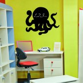 Octopus - Chalkboard / Blackboard Wall Stickers