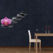 Orchid Pebbles Wall Stickers