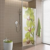 Orchid - shower sticker