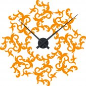 Ornament Clock Wall Stickers