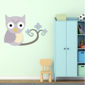 Owl Branch Wall Stickers