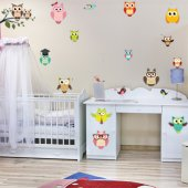 Owls and Birds Set Wall Stickers