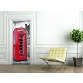 Phone Box Door Stickers