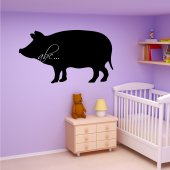 Pig -Chalkboard / Blackboard Wall Stickers