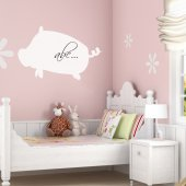 Pig -Whiteboard Wall Stickers