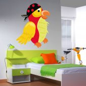 Pirate Bird Wall Stickers