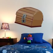 Pirate Chest Wall Stickers