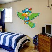 Pirate Parrot Wall Stickers