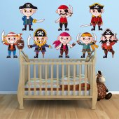 pirates Set Wall Stickers